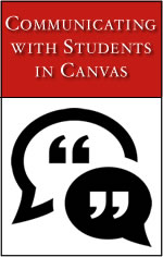 Communicating with Students in Canvas