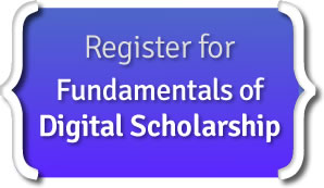 Click here to register for the Foundations of Digital Scholarship seminar, offered October 24-25, 2018, by the Harvard University Digital Scholarship Support Group