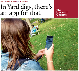 The Harvard Yard Archaeology Project, covered in the Harvard Gazette